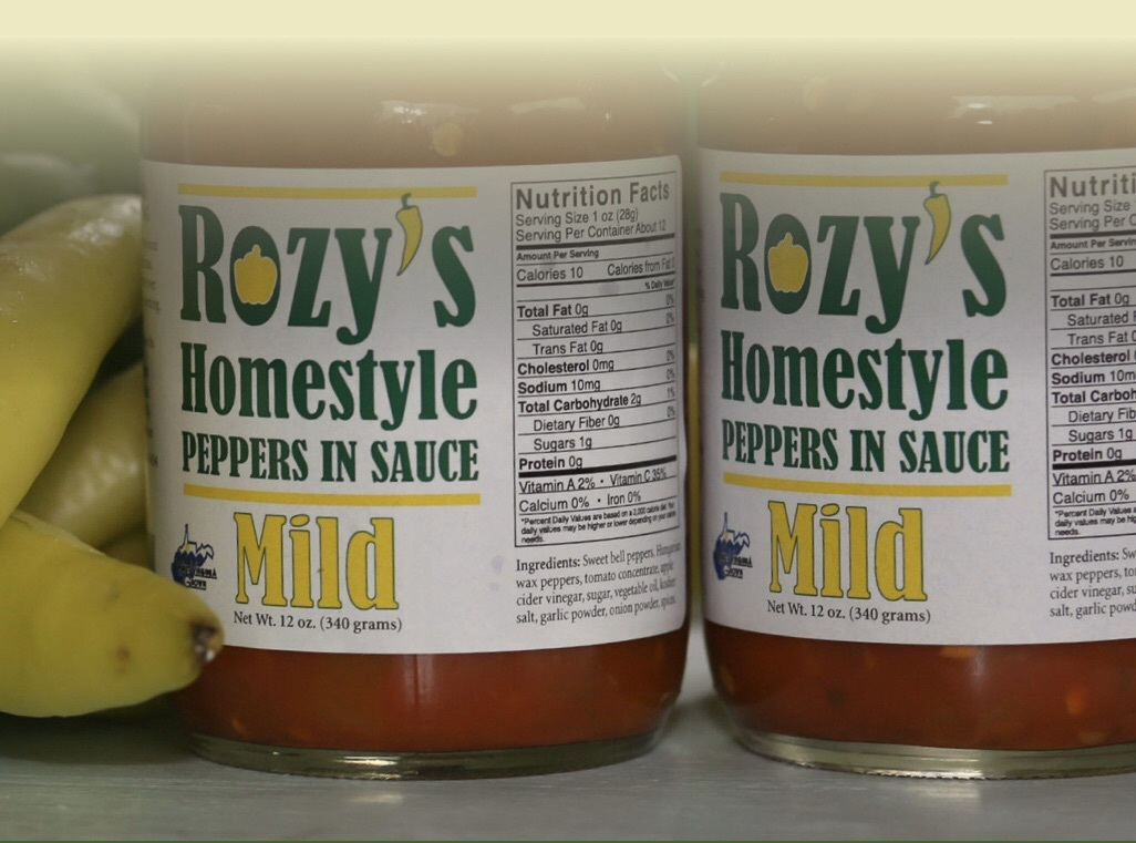 Rozy's Homemade Peppers in Mild Sauce